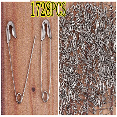 1Box Nickel Plated Safety Notion Pins #000 7/8'' 20mm BA304 by Sewing Accessories