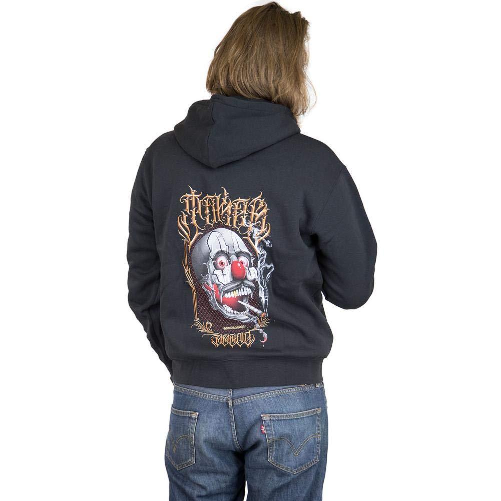 Joker Brand Zip Hoody Skull schwarz: : Bekleidung