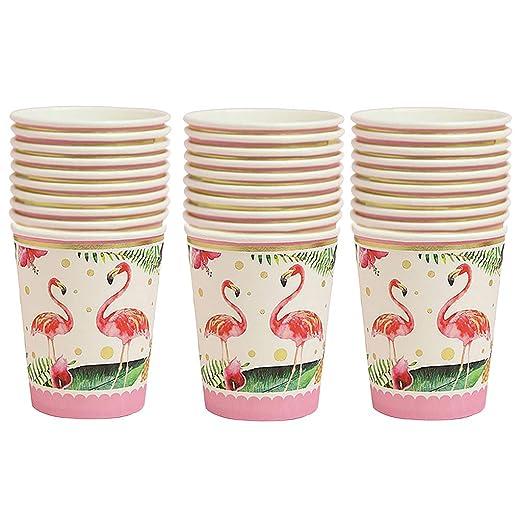 30pcs Tropical Flamingo Papel Desechables Tazas Fiesta de ...