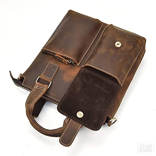 5d5453cfcd77 Amazon.com: Speciclny Motorcycle Bag Full Grain Cow Leather ...