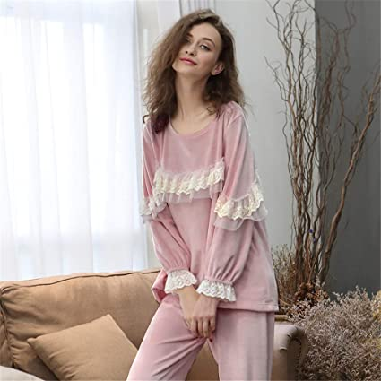 e00c2f76303b Shirleyle Elegante Conjunto de Ropa de Pijamas para Mujer Elegante 2 Piezas  de Ropa de Dormir