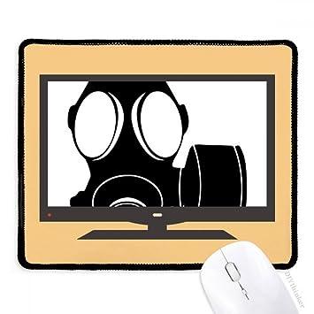 Máscara de Gas para Ordenador con Contador de contaminación, Alfombrilla de ratón Antideslizante de Goma