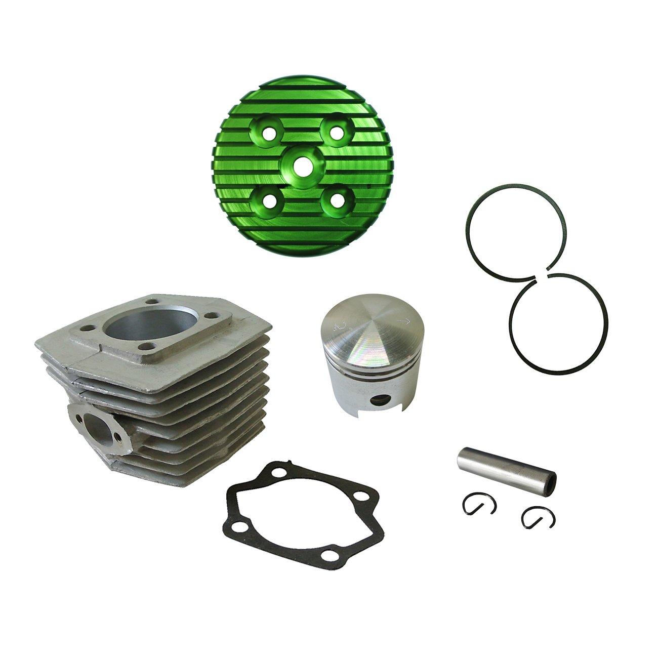 CNC Green Cylinder Head/&Cylinder/&Piston For 80cc Engine Motorised Bike