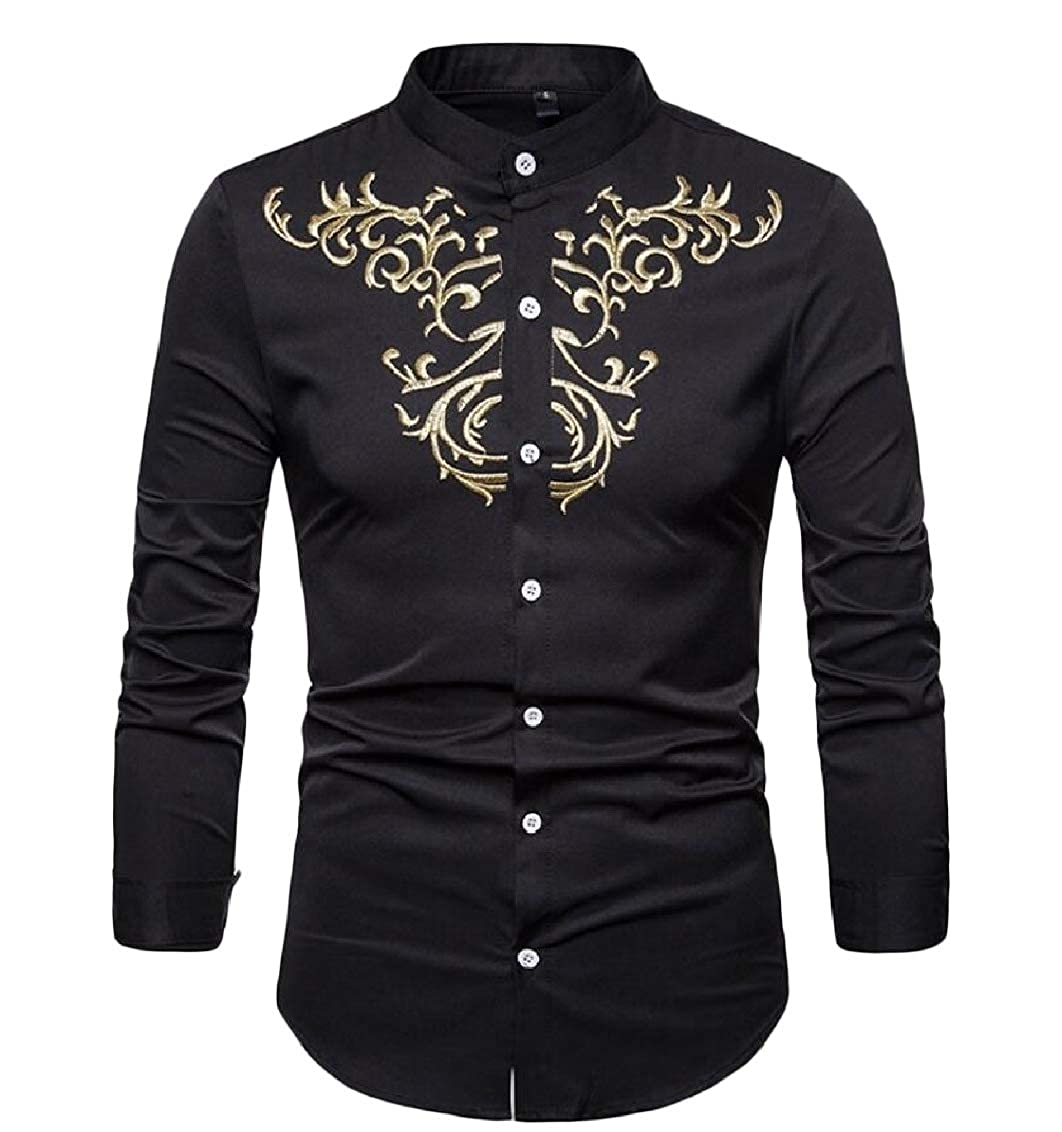 Sweatwater Mens Solid Print Button-Down Henley Top Long-Sleeve Shirts