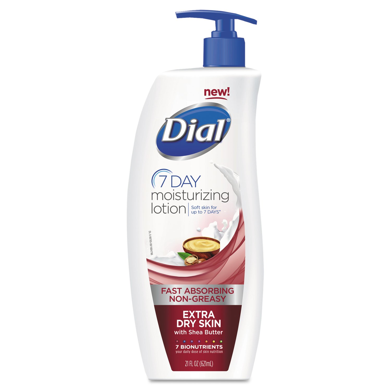 Dial DIA 99766 Extra Dry 7-Day Moisturizing Lotion with Shea Butter, 21 oz. (Pack of 6)