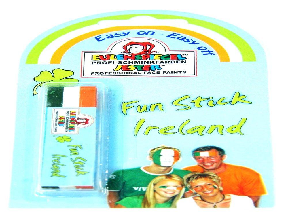 Irland Elfenbeink/üste Fanschminke//Schminkstift Gr/ün-Wei/ß-Orange f/ür Gesicht und Haut
