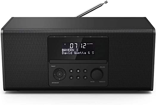 Hama DR1550CBT Portátil Digital Negro - Radio (Portátil, Digital, DAB+,DMB,FM, 87,5 - 108 MHz, 174 - 240 MHz, LCD)