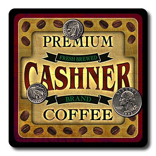 Cashner Coffee Neoprene Rubber Drink Coasters - 4 Pack