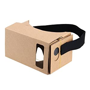 Blingkingdom - (2pcs in Pack) Cardboard Headset 3D Virtual Reality VR for Android Smart Phones iPhone + NFC and Head-Strap