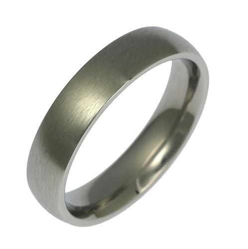 5 mm acero inoxidable pulido hombres de confort ajuste boda ...