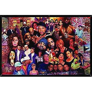 ArtWall Marina Petros Karmic Lovers 3 Piece Floater Framed Canvas Set 36 by 54