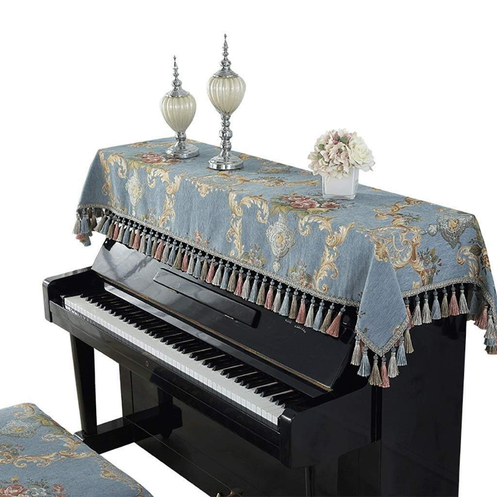 Nwn Piano Cover European Fabric Piano Dust Cover Half Cover Embroidery Keyboard Fabric Full Cover Home Life by Nwn