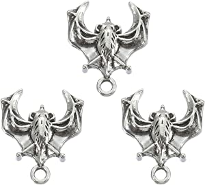 40pcs Antique Silver Bat Charms Animal Charm Pendant for Necklace Bracelet DIY Jewelry Making Accessories 18mmx15mm(a-1251)