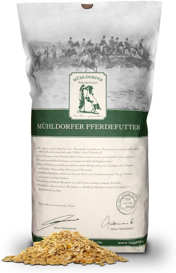 mühl dorfer Bio Forro para Antiguos Caballos, Bio Copos de maíz, 15kg