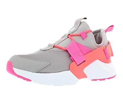 2c172e2b78a0 Nike Women s Air Huarache City Low Running Shoes Atmosphere Grey Hot Punch  (7.5 B(