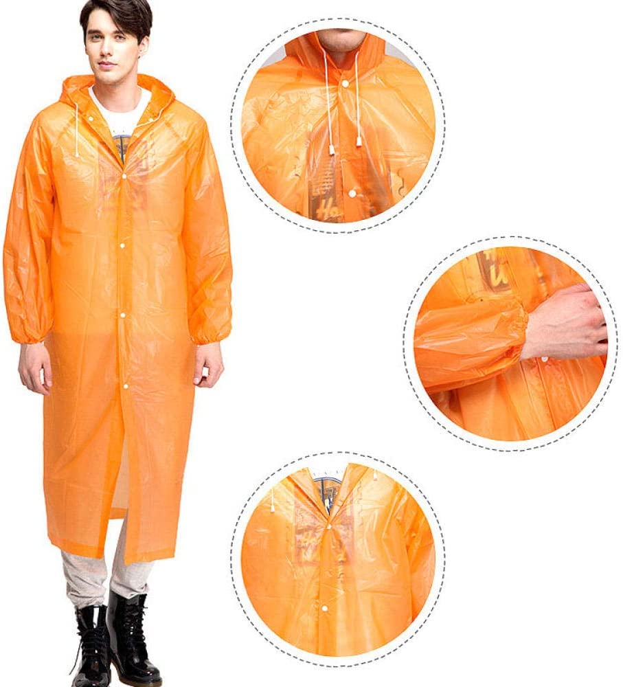 SHUHANX New Three-in-one Raincoat Multifunctional Backpack Poncho Motorcycle Raincoat Rainwear Climbing Rain Coat Impermeable Orange