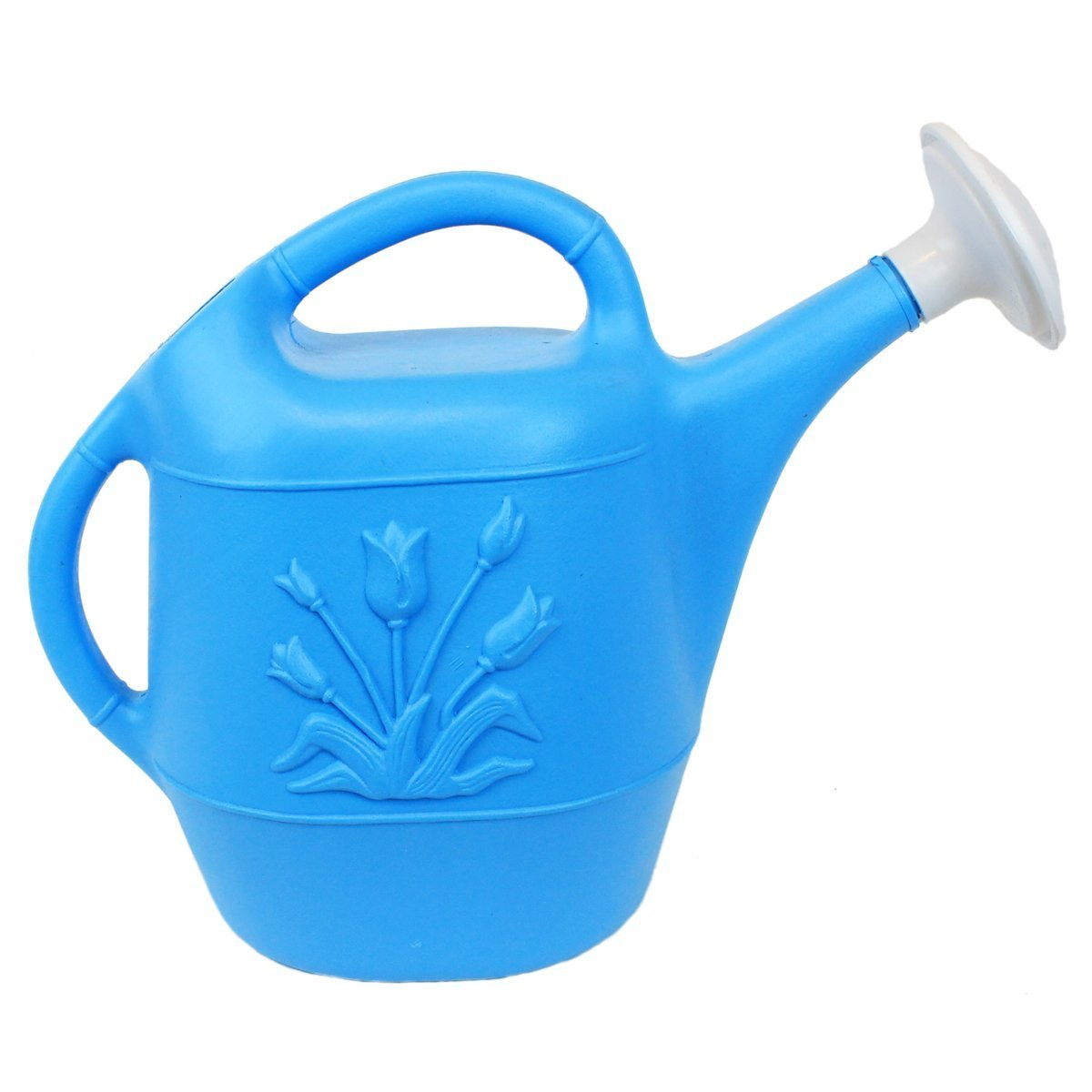 Union 63166 Watering Can with Tulip Design, 1 gallon, Caribbean Blue