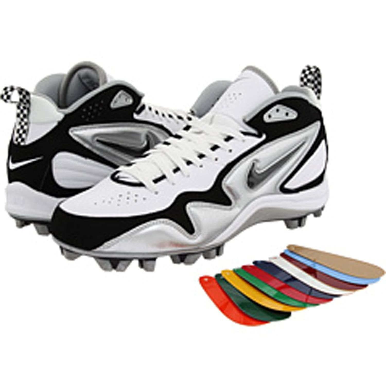 Nike メンズ B0059EWW3KWHITE/METALLIC SILVER//BLACK 9