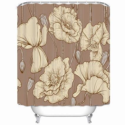 Amazon.com: DaniulloRU Custom Vintage Seamless Pastel Color Poppies ...