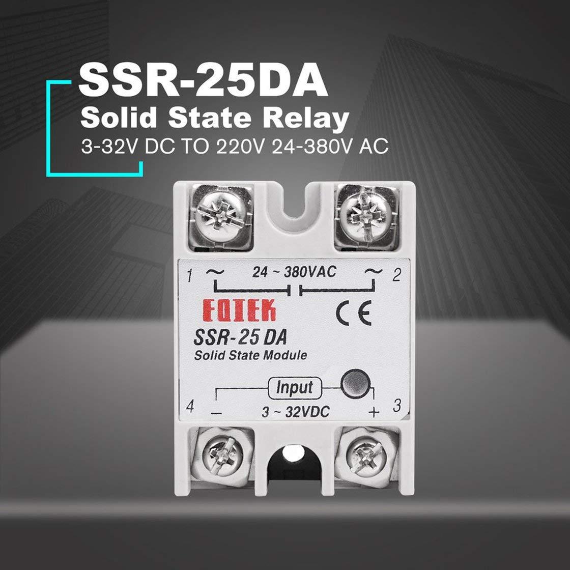 Jessicadaphne SSR-40DA Rel/é de estado s/ólido DC-AC para control de temperatura