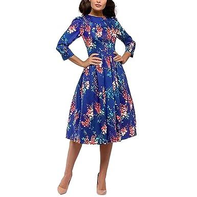 Sloater Vestido para Mujer de la Marca Audrey Hepburn, Estilo años ...