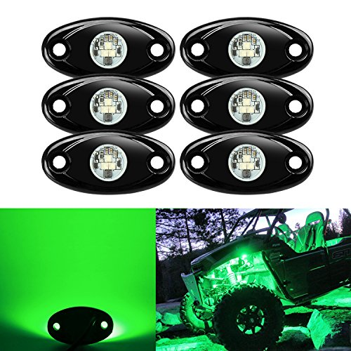 6 Pods LED Rock Lights Kit, Ampper Waterproof Underglow LED Neon Trail Rig Lights for Car Truck ATV UTV Baja Raptor Offroad Boat Trail Rig Lamp Underbody Glow -