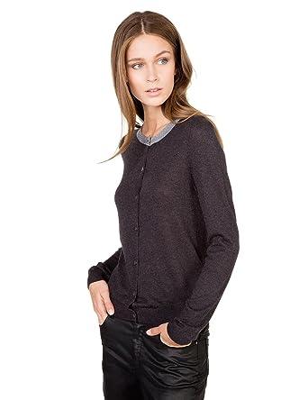Nouvelles Arrivées 1fbac bc894 Monoprix Femme Women's Cardigan with Collar - - Grey ...