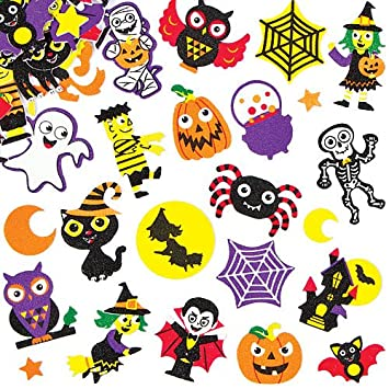 baker ross halloween foam stickers for children to decorate cards collages scrapbooking other crafts projects