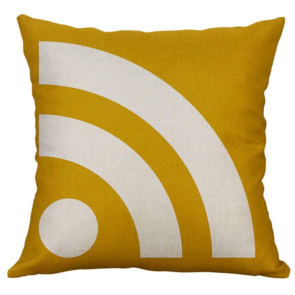 Modern Home Decorative Pillow Case,Sikye Irregular Geometric Removable Cushion Cover Printed Pillow Cover,Square,40x40cm (A) by Sikye (Image #1)
