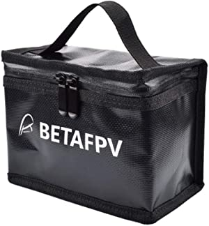 BETAFPV Fireproof Explosionproof Waterproof Safe Lipo Battery Bag for FPV Whoop Lipo Battery Storage Charging Fire and Water Resistant Highly Sturdy Double Zipper Lipo Battery Guard