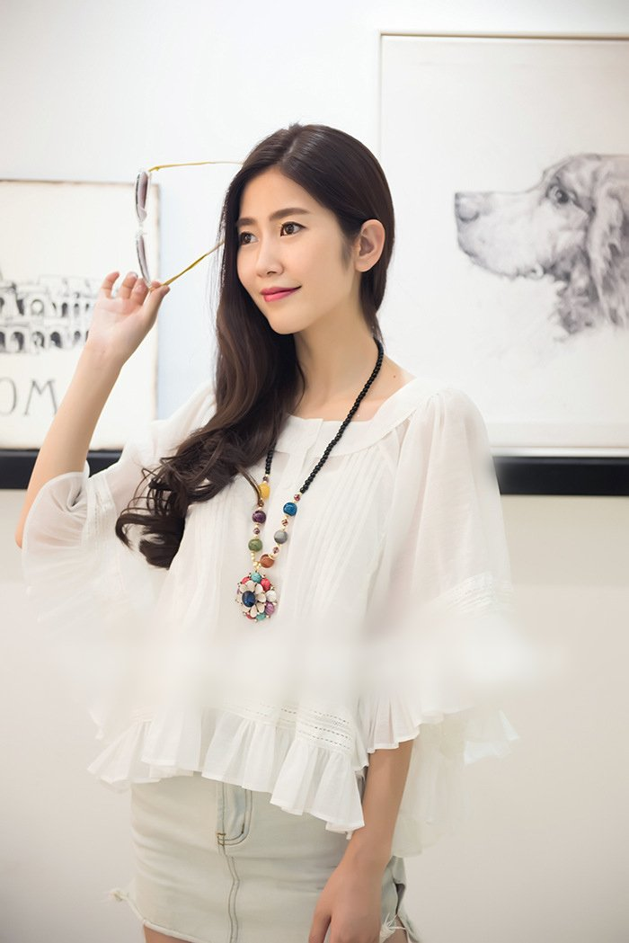 Generic Thai Elephant temperament retro national wind crystal necklace Korean version of the new long section of Beautiful color bead chain sweater woman