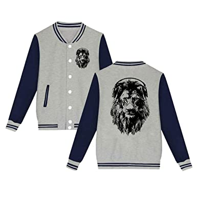 Amazon.com: Chaqueta de béisbol Slim Fit Varsity de lion ...