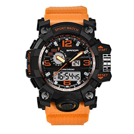 Huang Dog-shop Smart Watch Sport Montre Connectée Homme, Militaires en Plein Air Sport