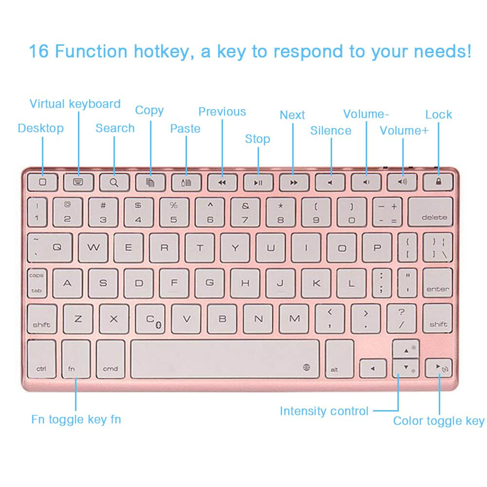 FOME Ultra-Thin Bluetooth Keyboard Portable Carrying Keyboard Case with 7 Colors Backlit Wireless Keyboard Protective Cover Replacement for iPad Mini 1//2//3 7.9inch
