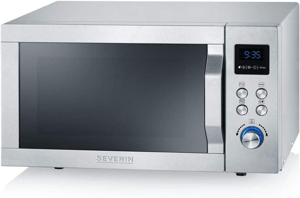 Severin MW 7751 Microondas con Grill 2 en 1, 800 W, Inox