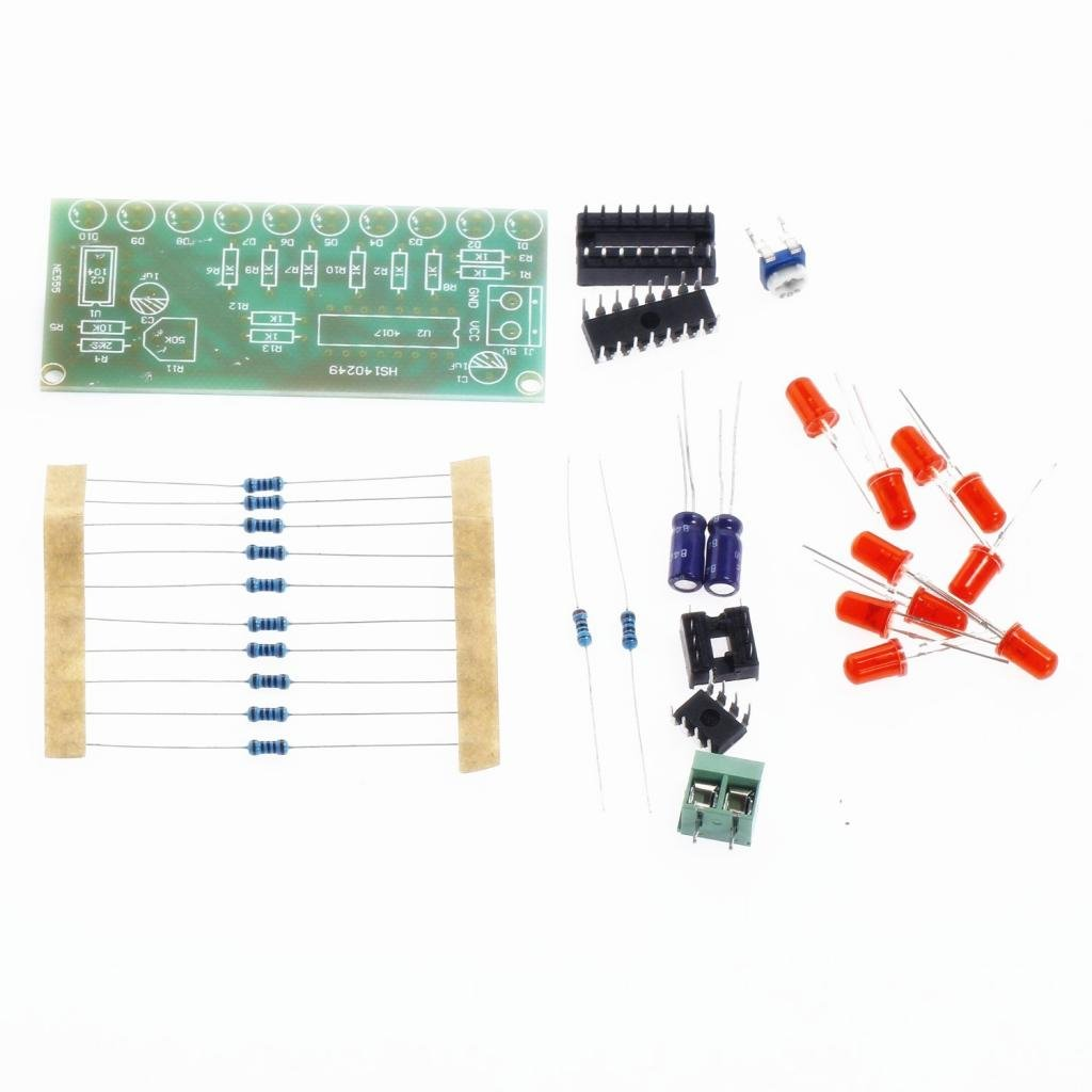 Magideal Ne555 Cd4017 Flashing Light Water Flowing Led Module Electronics Using Ic Ne555cd4017 Electronic Projects Circuits Diy Kit Pcb Board Industrial Scientific