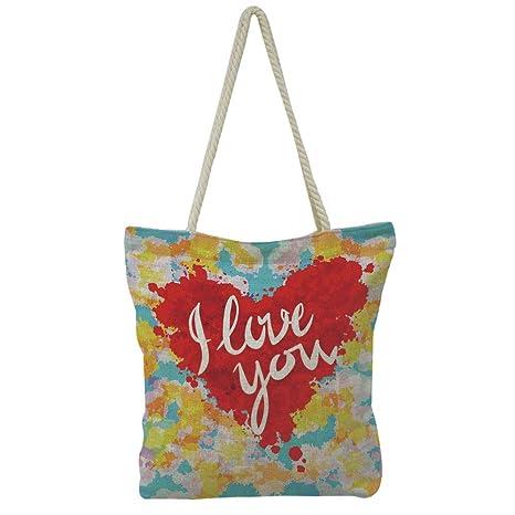 Amazon.com  Handbag Cotton and Linen Shoulder Bag Leisure Fashion 05bc8bfe1d26f