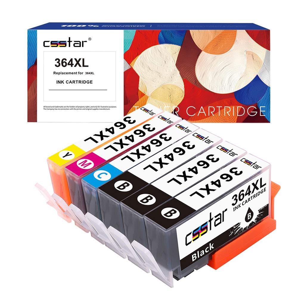 CSSTAR Compatible Cartuchos de Tinta Reemplazo para HP 364 XL 364XL para Photosmart 5520 5510 5515 6520 6510 5524 Plus B210a DeskJet 3070A 3520 ...