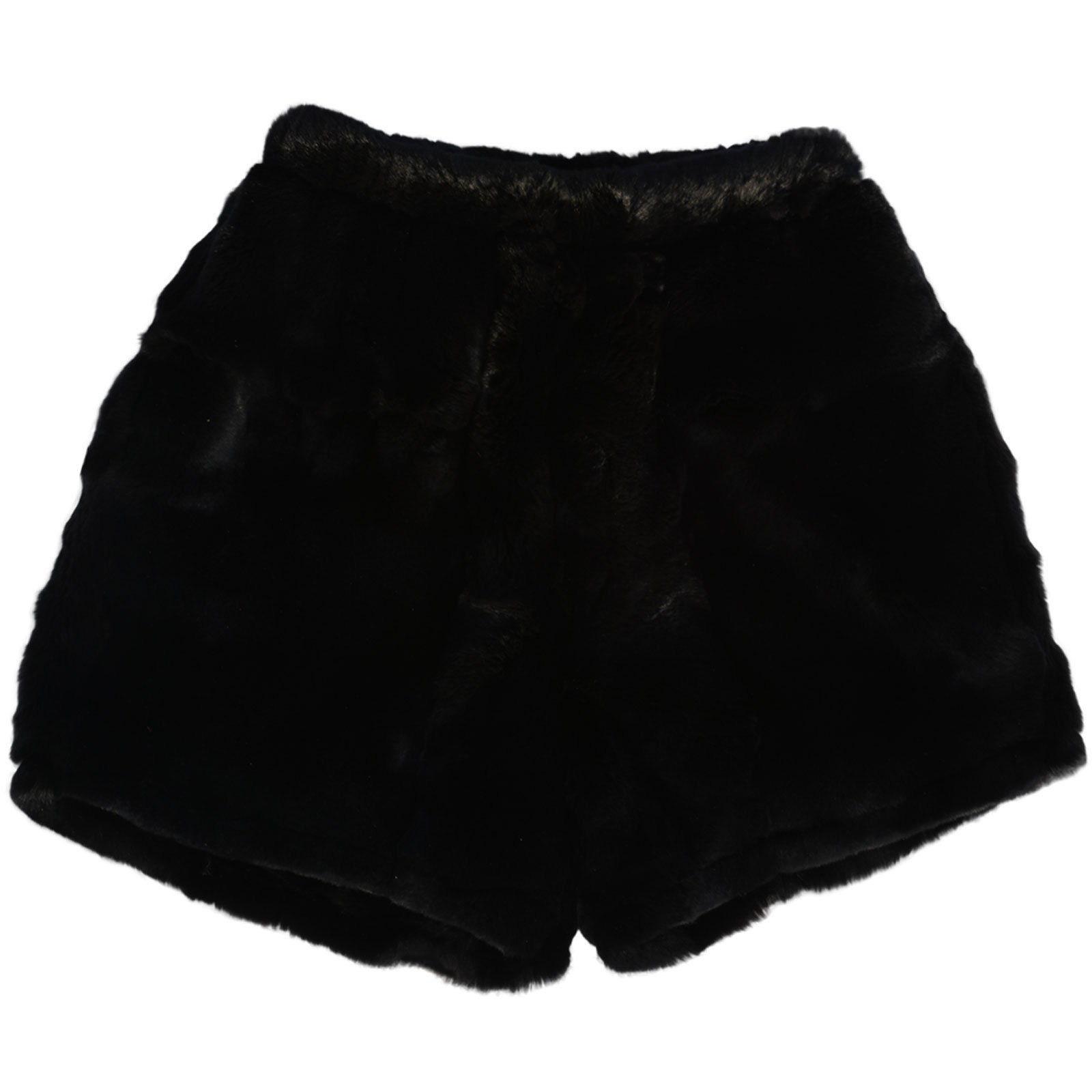 MinkgLove Rex Rabbit Boxer Shorts Briefs Underwear, Velvety Soft Plush Feel, Fur Lined Fly, Black, Hand Tailored, One Size - Single Sided Fur