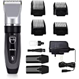 Hair Clippers Hair Trimmer Electric Haircut Kit Ceramic Blade Rechargeable Battery for Men Kids Adults For Elehot (BLACK)
