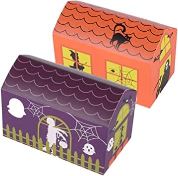 Amazon.es: NUOBESTY Halloween Goody Paper Ribbon Candy Boxes Caja ...