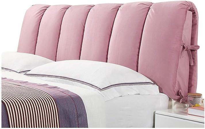 Cuscino imbottito per testiera e schienale per letto LIQICAI facile da rimuovere e lavare 8 colori 4 misure comodo per letti con testiera colore: rosa, dimensioni: 120 x 50 cm