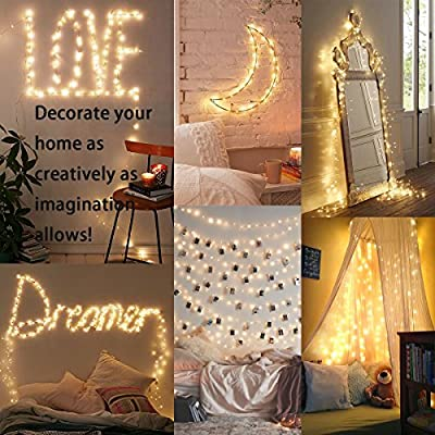 2PCS Battery Operated Fairy Lights, Conve4life 100 LEDs, 32Ft/10M Battery Powered Copper Wire Decorative String Lights with Flashing Mode for Indoor/Outdoor Wedding, Gardens, Bedroom, Patio, Christmas