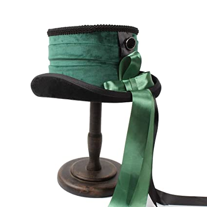 9aaa139438e965 Victorian Steampunk Raven Green Top Hat Wedding Hat Ribbon Creative  Personality Hat Warm Soft and Comfortable Hats: Amazon.ca: Sports & Outdoors