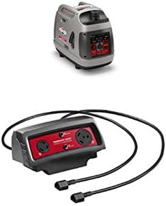 (2) Briggs & Stratton 2200-Watt Inverter Generators With Parallel Cable Connector Kit
