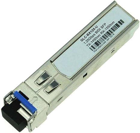 Cisco GLC-BX120-U Compatible 1000BASE-BX BiDi SFP 1490nm-TX//1550nm-RX 120km Singlemode Fiber Simplex LC DOM Transceiver