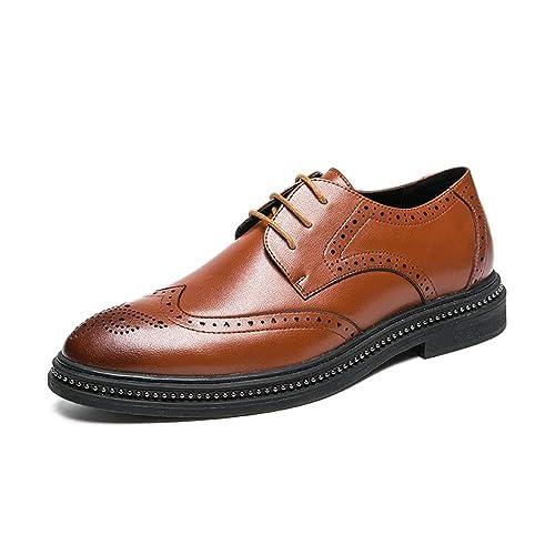 profesional donde puedo comprar materiales de alta calidad Hilotu Zapatos de Vestir Oxford de Cuero para Hombres Encaje ...