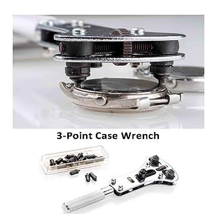 EZTool Watch Repair Tool Kit & Jaxa Wrench: Plus 41-Page Watchmaker's