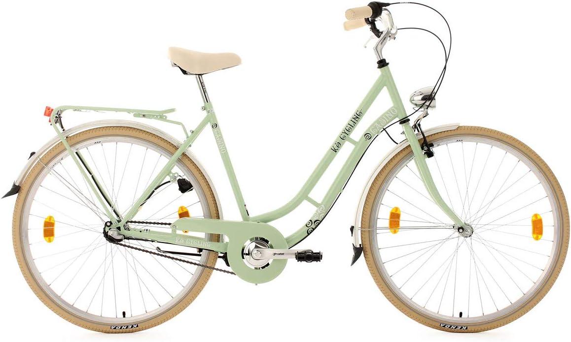 KS Cycling Casino-Bicicleta de Ciudad, Color Verde - Verde, tamaño ...