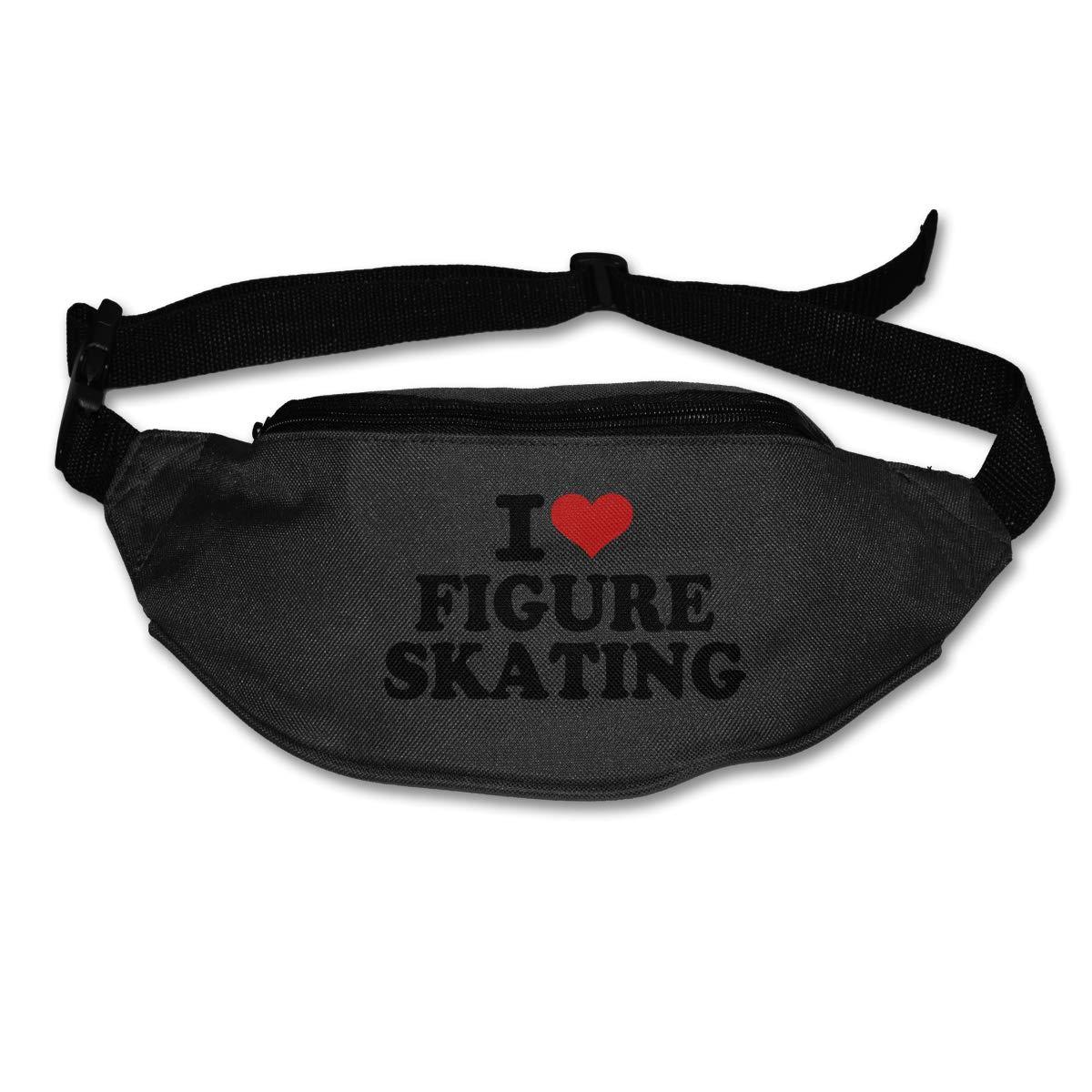 I Love Figure Skating Sport Waist Pack Fanny Pack Adjustable For Run